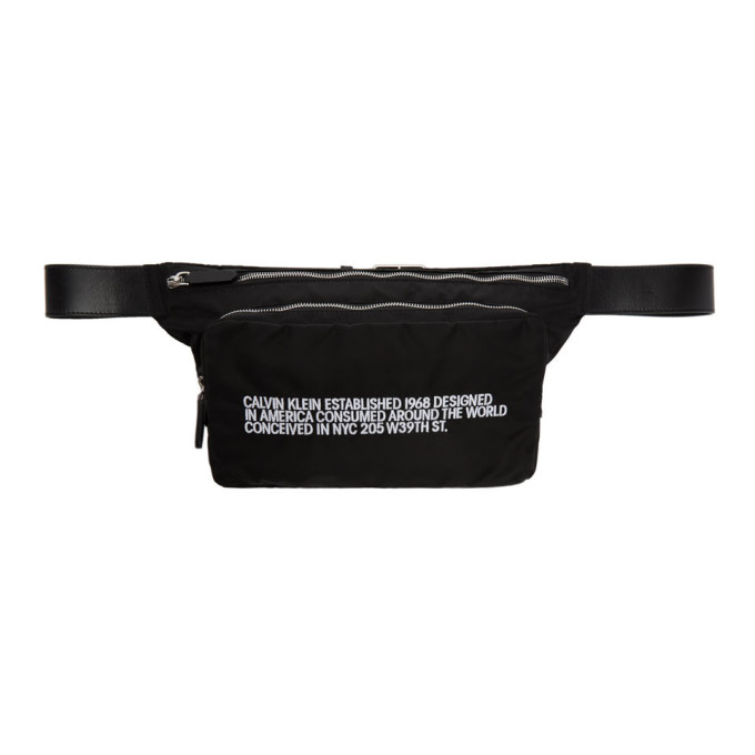 Image of Calvin Klein 205W39NYC Black Logo Fanny Pack