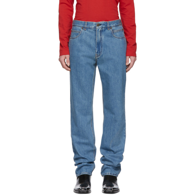 Image of Calvin Klein 205W39NYC Blue Straight Jeans