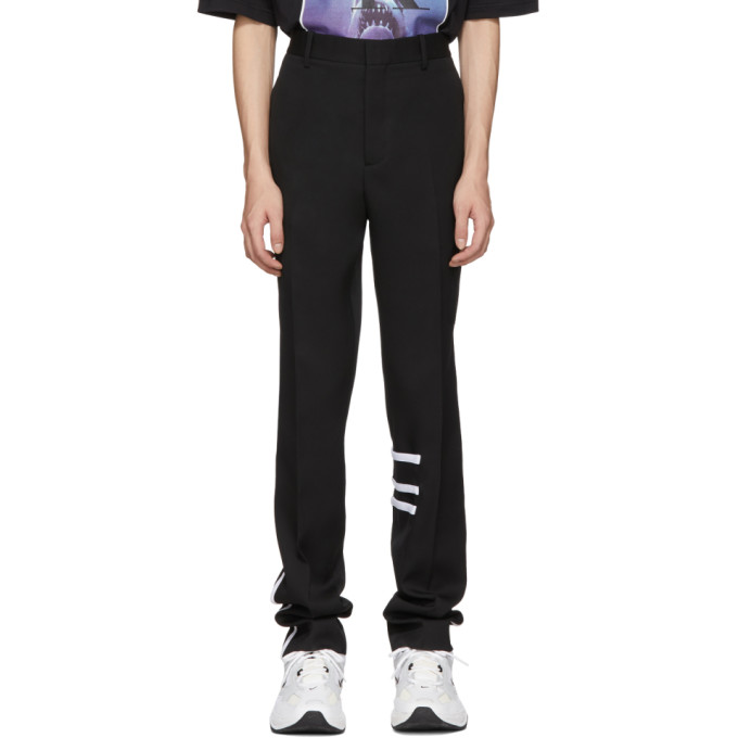 Image of Calvin Klein 205W39NYC Black Wool Cigarette Trousers