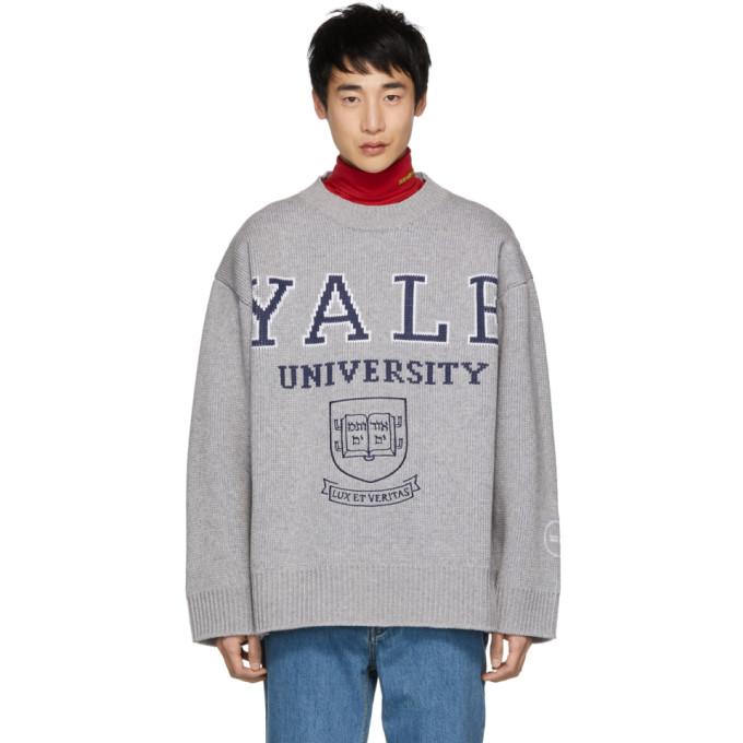 Calvin Klein 205W39NYC Grey Yale Crewneck Sweater