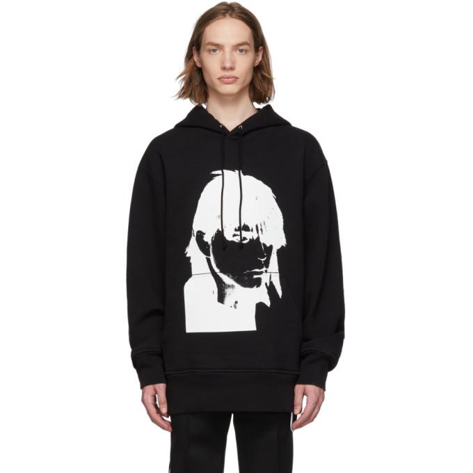 Image of Calvin Klein 205W39NYC Black Stephen Sprouse 1984 Hoodie