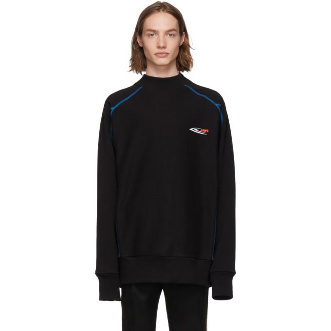 Image of Calvin Klein 205W39NYC Black Scuba Mock Neck Sweatshirt