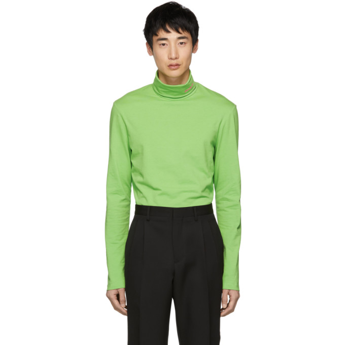 Image of Calvin Klein 205W39NYC Green Logo Turtleneck