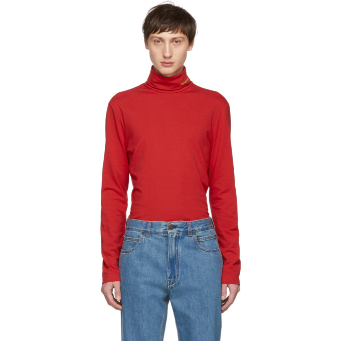 Image of Calvin Klein 205W39NYC Red Classic Turtleneck