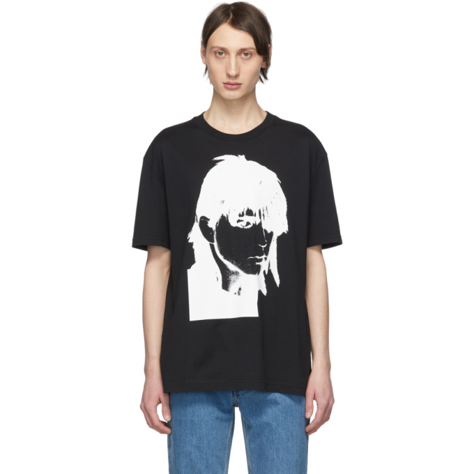 Image of Calvin Klein 205W39NYC Black Stephen Sprouse T-Shirt