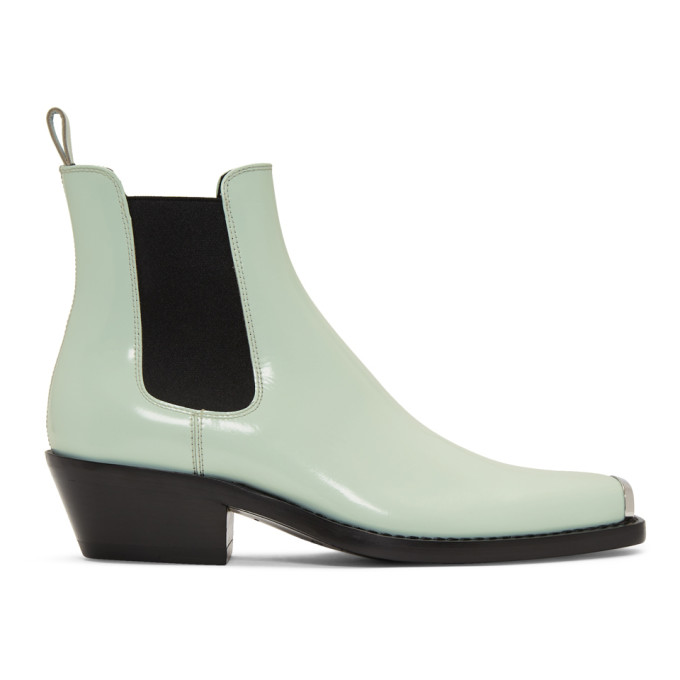 Image of Calvin Klein 205W39NYC Blue Western Chris Crosta Chelsea Boots