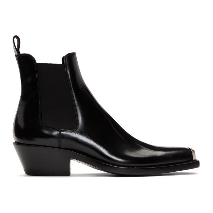CALVIN KLEIN | Calvin Klein 205W39NYC Black Western Chris Chelsea Boots | Goxip