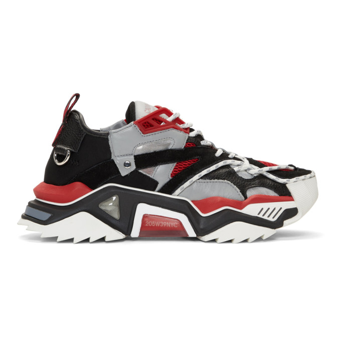 Calvin Klein 205W39NYC Black & Red Strike 205 Sneakers