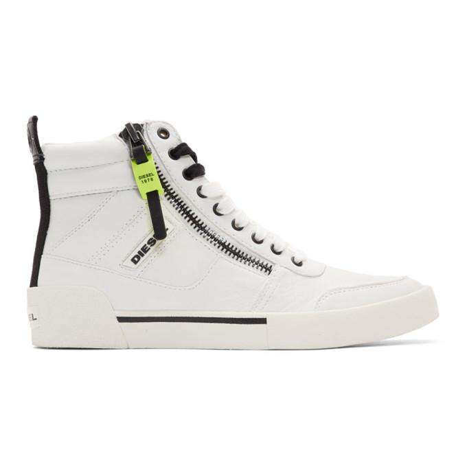 Diesel White S-Dvelows High-Top Sneakers