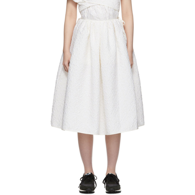 Cecilie Bahnsen Jupe blanche Sibyl exclusive a SSENSE