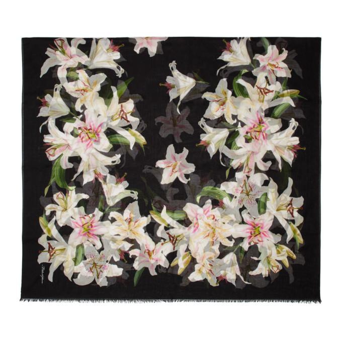 Dolce and Gabbana Foulard noir Lilium