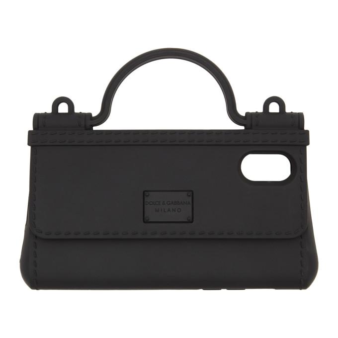 Dolce and Gabbana ブラック バッグ シェイプ iPhone X カバー
