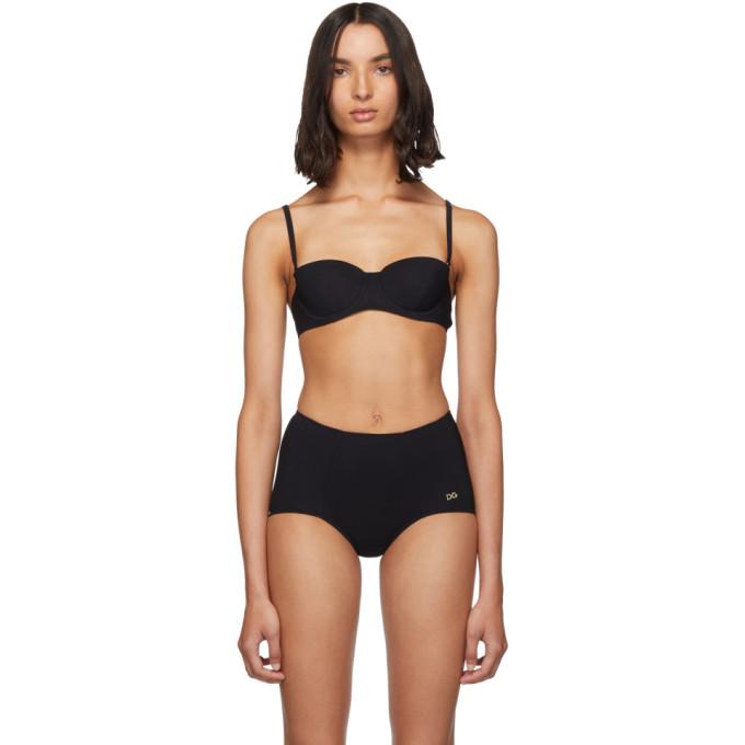 Dolce and Gabbana Haut de bikini noir Balconette