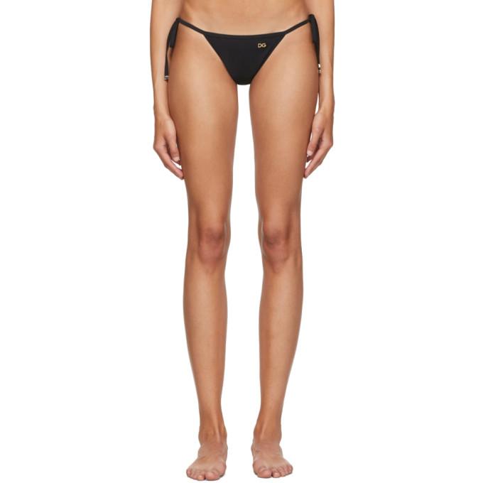 Dolce and Gabbana Culotte de bikini noire String