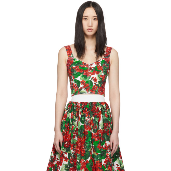 Dolce and Gabbana Bustier rouge Geranium Soft Cup
