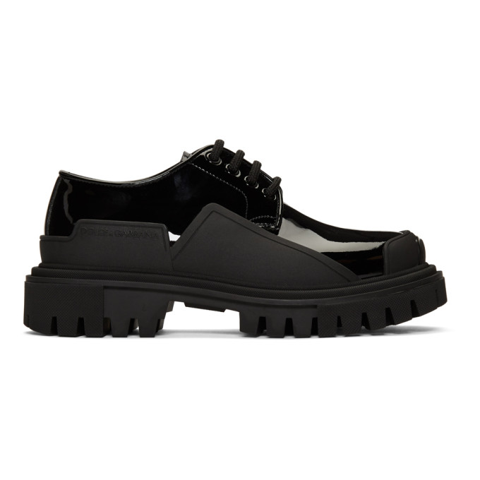 Dolce and Gabbana Chaussures oxford noires Chunky Sole
