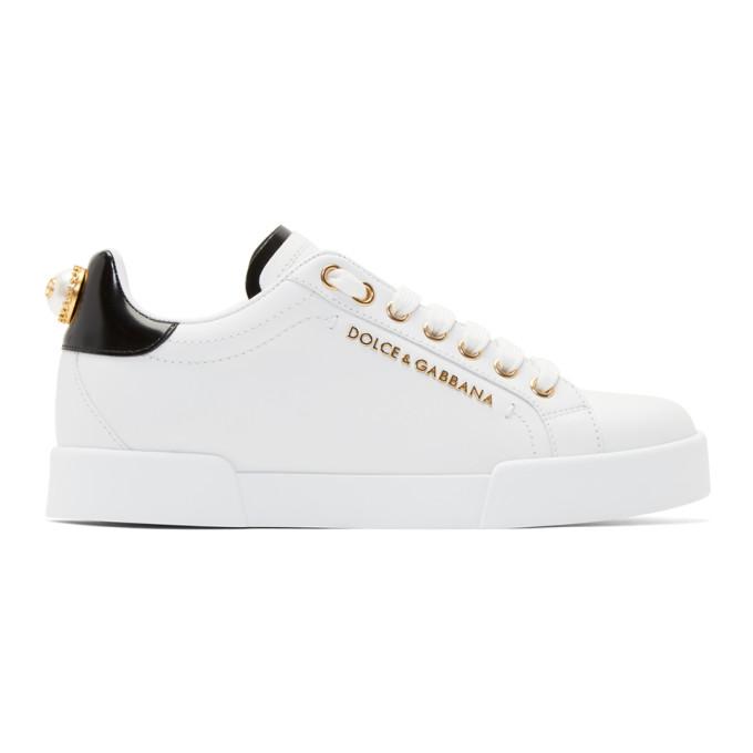 Dolce and Gabbana White Portofino Sneakers