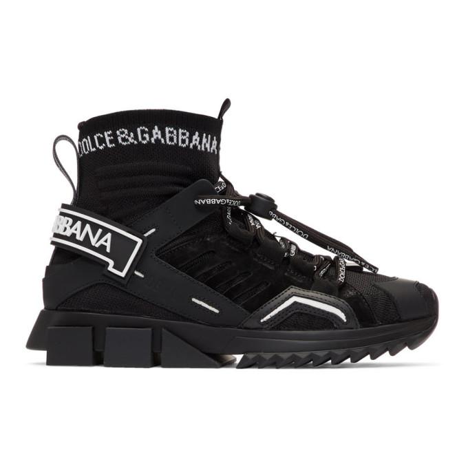 Dolce and Gabbana Black Trekking Sorrento High-Top Sneakers