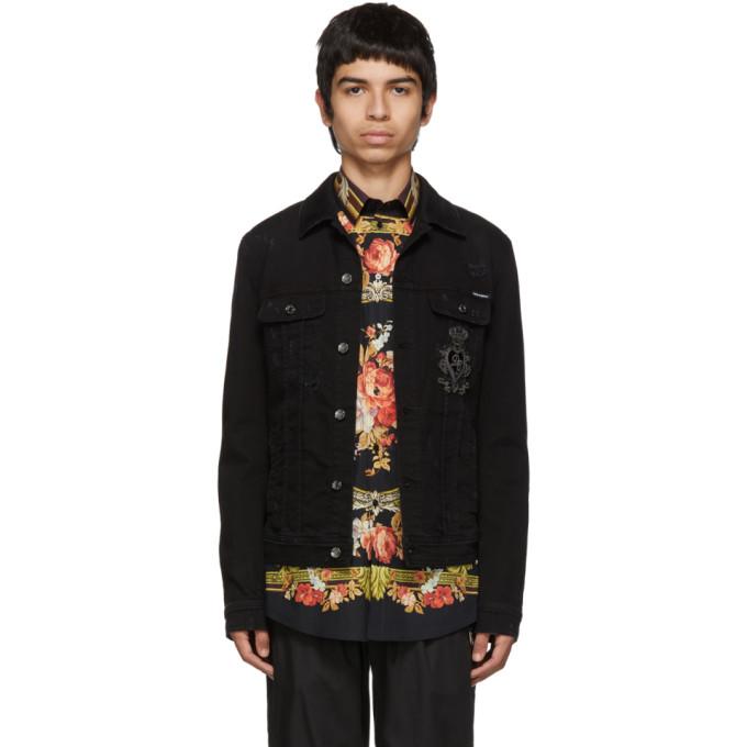 Dolce and Gabbana ブラック デニム ジャケット