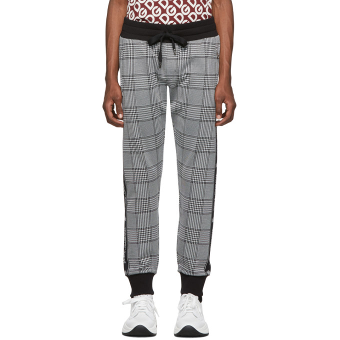 Dolce and Gabbana Black Rossi-Bordeaux Lounge Pants