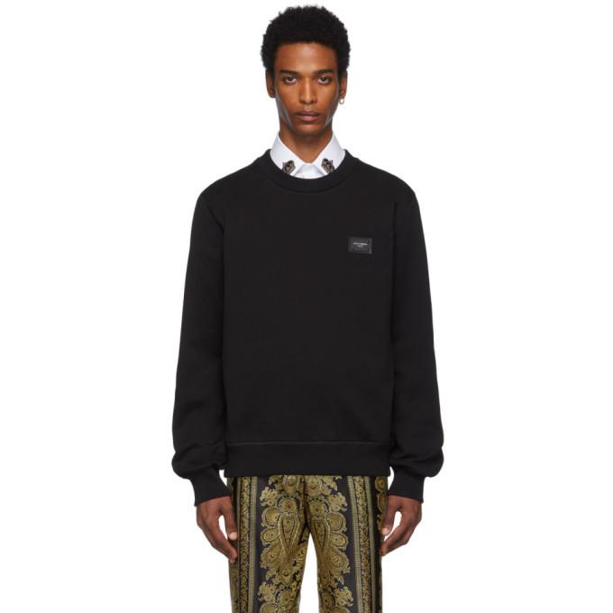 Dolce and Gabbana Black Plaque Sweatshirt