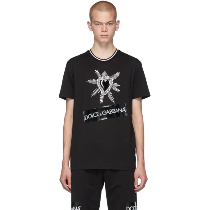 Dolce and Gabbana Black Heart Logo T-Shirt