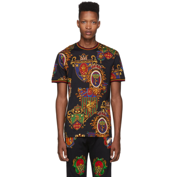 Dolce and Gabbana Black Stemmi 3 Printed T-Shirt