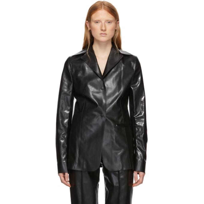Kwaidan Editions Blazer caoutchoute noir Workwear