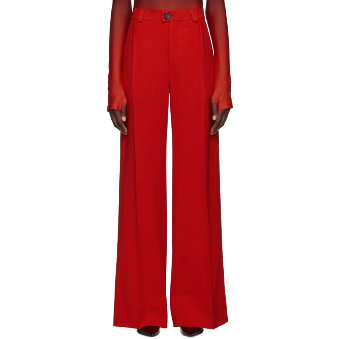 Kwaidan Editions Pantalon ample en laine rouge Fluid