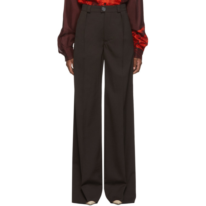 Kwaidan Editions Pantalon en laine brun Light