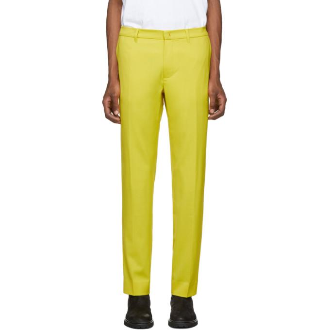424 Pantalon en laine jaune