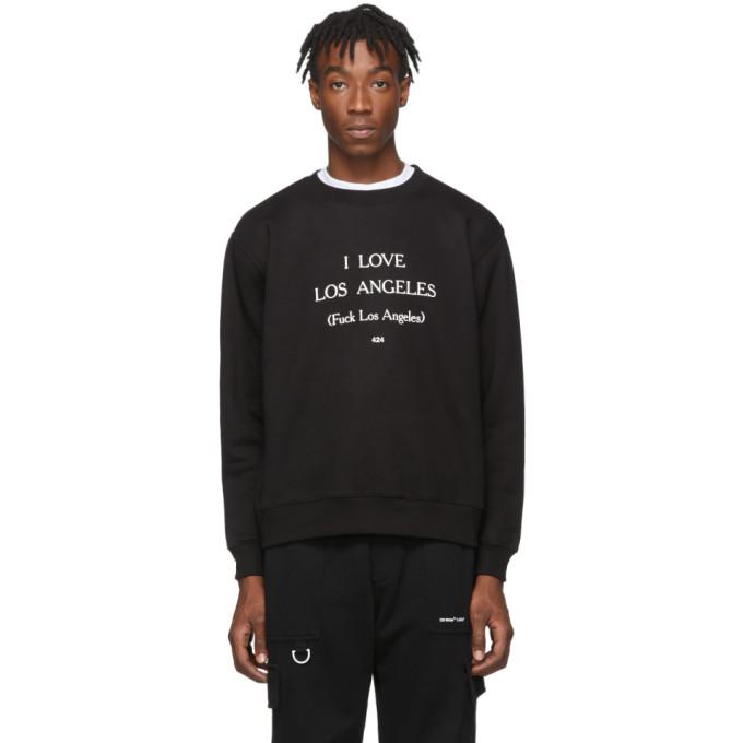 424 Black I Love Los Angeles Sweatshirt