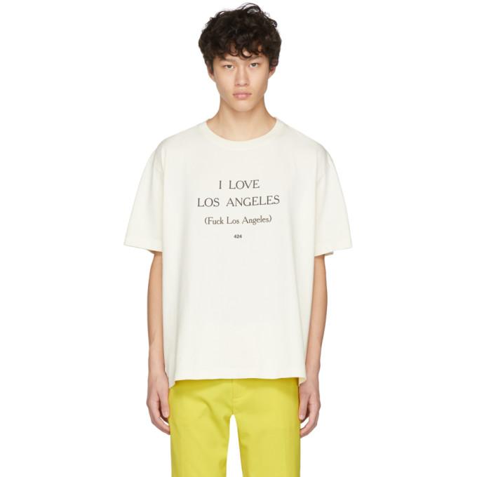 424 Off-White I Love Los Angeles T-Shirt