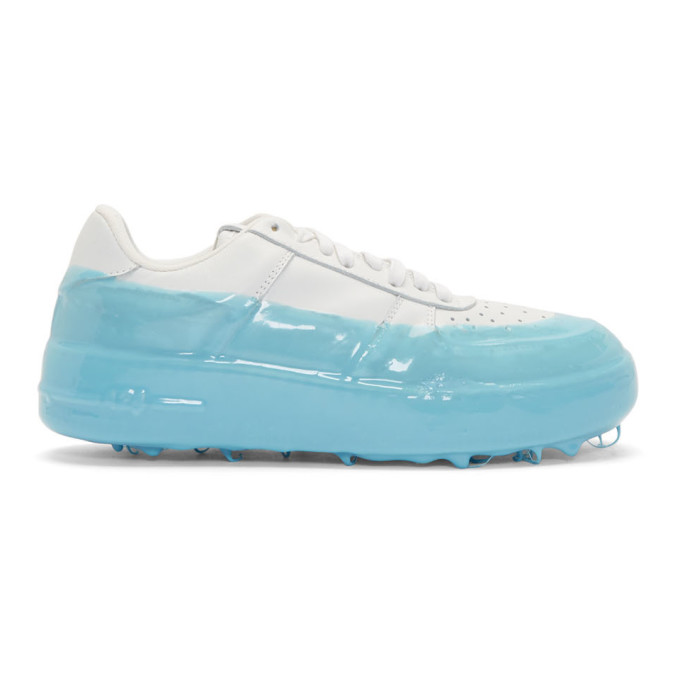 424 Off-White and Blue Dipped Sneakers
