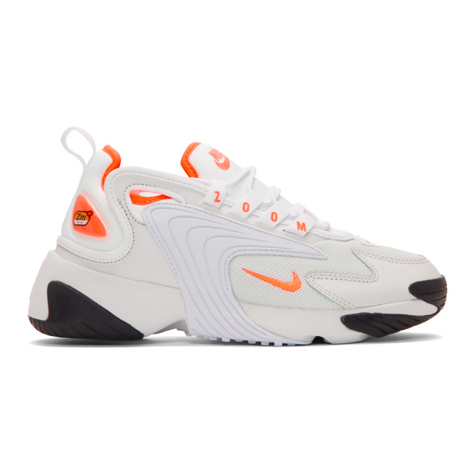 NIKE | Nike Off-White And Orange Zoom 2K Sneakers | Goxip