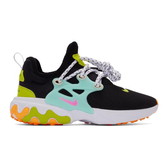 NIKE | Nike Black React Presto Sneakers | Goxip