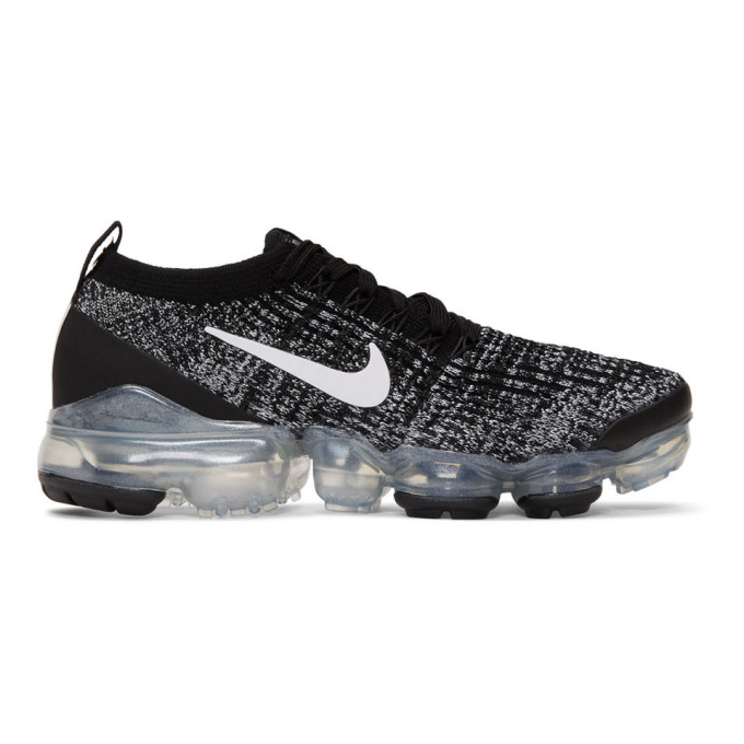 NIKE | Nike Black And White Air Vapormax Flyknit 3 Sneakers | Goxip