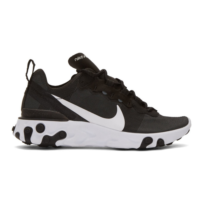 Nike Black React Element 55 Sneakers