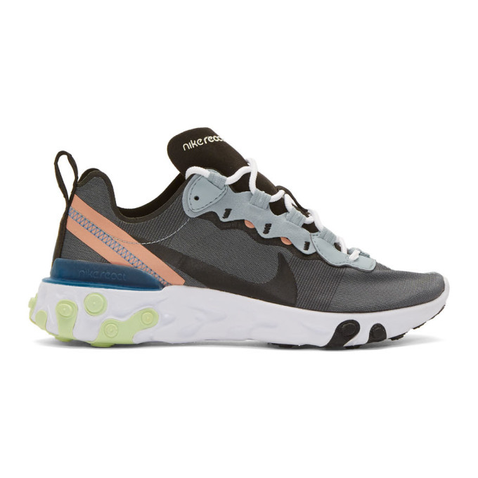 Nike Blue React Element 55 Sneakers