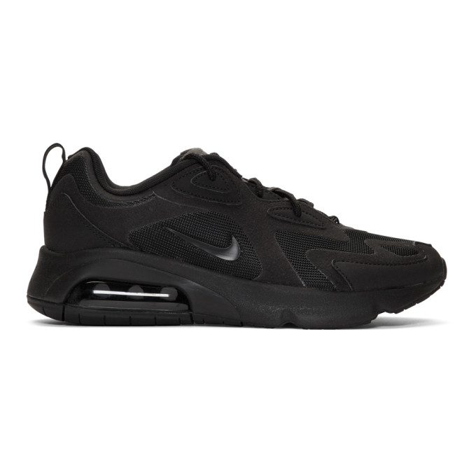 Nike Black Air Max 200 Sneakers