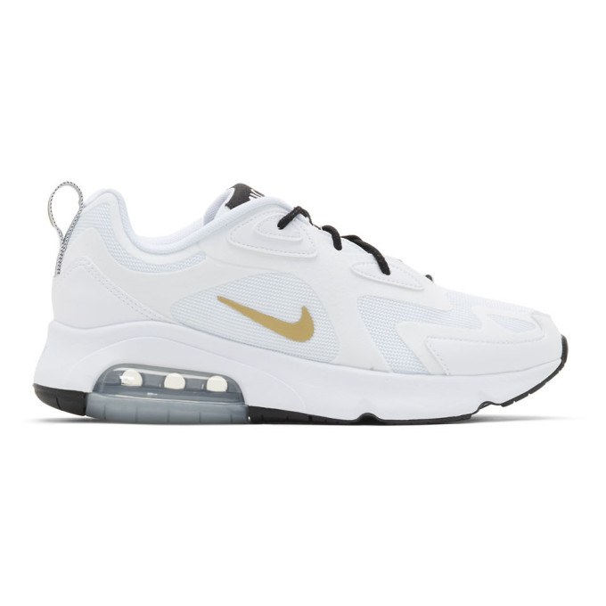 Nike White Air Max 200 Sneakers