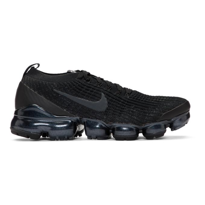 pretty nice e9155 86025 Nike Black Air VaporMax Flyknit 3 Sneakers 192011M23704904