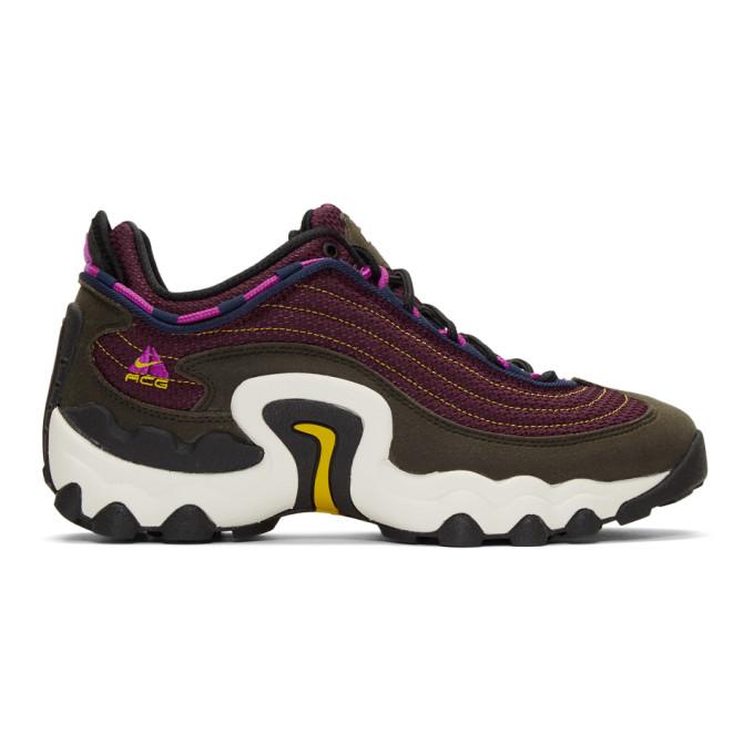 Nike Purple and Green ACG Air Skarn Sneakers