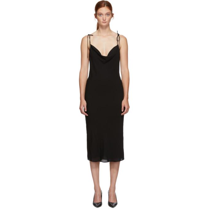 Kiki de Montparnasse Fond de robe en soie noir Simple