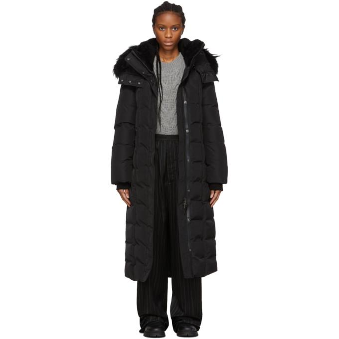 Mackage Manteau en duvet noir Jada exclusif a SSENSE