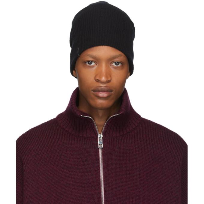 Mackage Bonnet en laine et cachemire noir Tazio-R