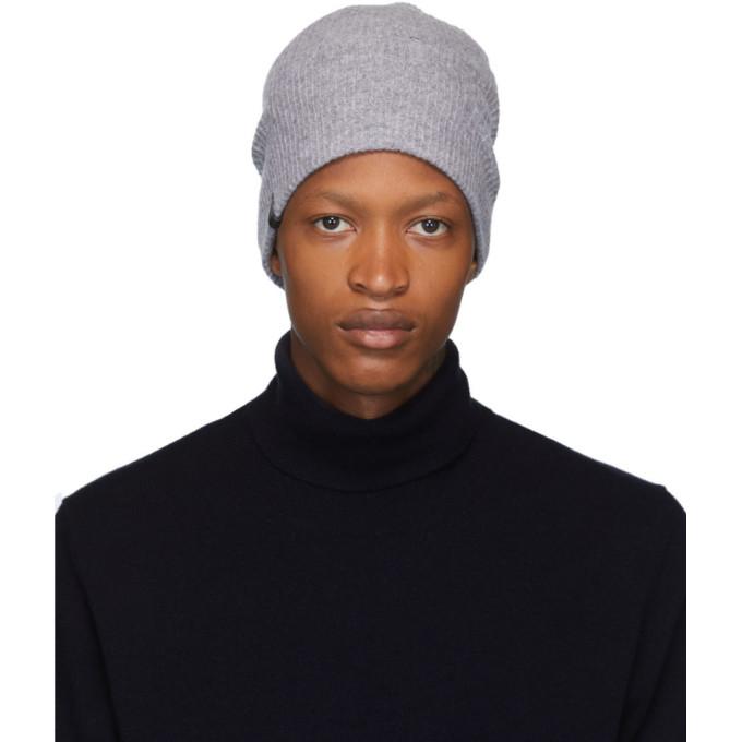 Mackage Bonnet en laine et cachemire gris Tazio-R