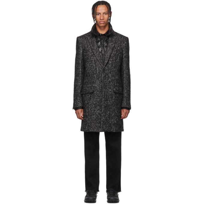 Mackage Manteau en tweed noir et blanc Skai