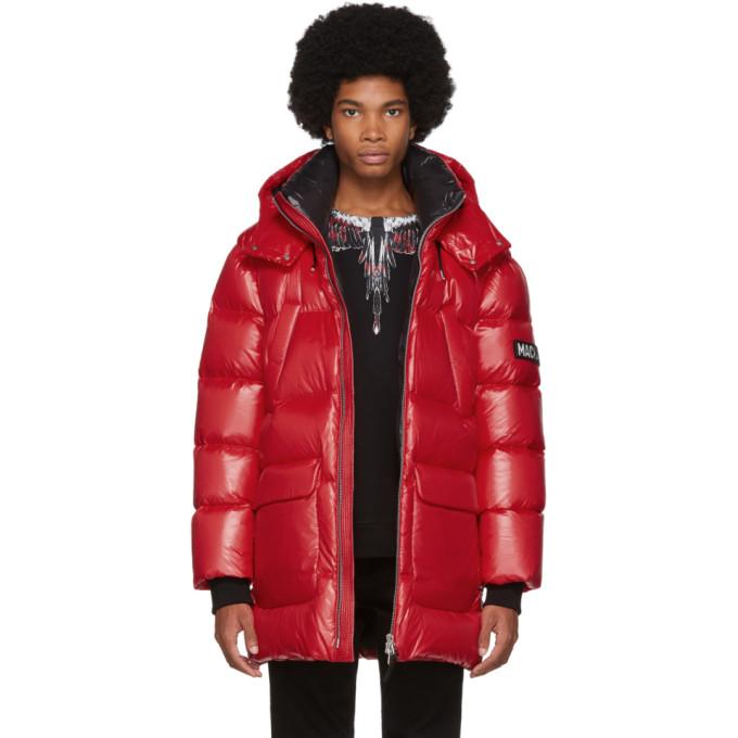 Mackage Red Down Lustrous Kendrick Jacket