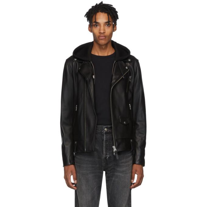 Mackage Black Leather Magnus-R Jacket